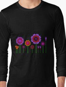 Fractal Flower Garden Long Sleeve T-Shirt