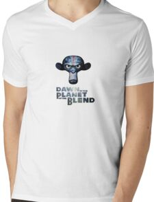 Dawn of the Planet of the Blend Mens V-Neck T-Shirt