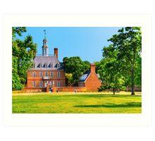 Old Grandeur - Royal Governor's Palace in Williamsburg Art Print