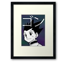 HUNTER X HUNTER GON Framed Print