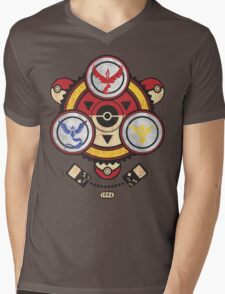 Bad ASH Pokemon Go Valor - Mystic - Instinct Team Shirt  Mens V-Neck T-Shirt