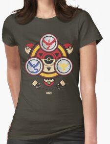 Bad ASH Pokemon Go Valor - Mystic - Instinct Team Shirt  Womens Fitted T-Shirt