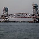 NY Bridge sunset by Jacker