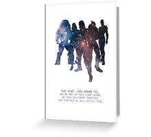 Mass Effect Squad Greeting Card