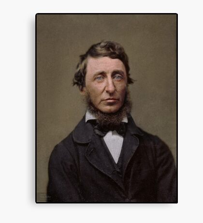 Henry David Thoreau, 1856 Canvas Print