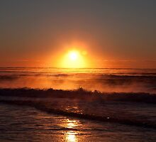 Australian Beach Sunrise, Casuarina NSW by MikeBJ