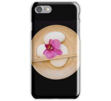 Orchid black zen iPhone Case/Skin