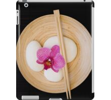 Orchid black zen iPad Case/Skin