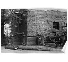 Adobe Home And Wagon Poster