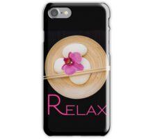 "orchid black zen ""Relax"" iPhone Case/Skin"