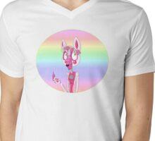 Pastel Fun Time Foxy Mens V-Neck T-Shirt