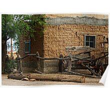 Mesilla Adobe and Wagon  Poster