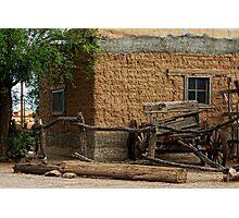 Mesilla Adobe and Wagon  Photographic Print