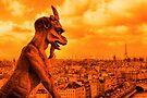 Guardians of Paris - A Gargoyle on the Skyline by Mark Tisdale