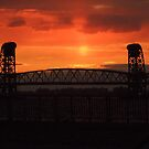 Sunset between Bridge by Jacker
