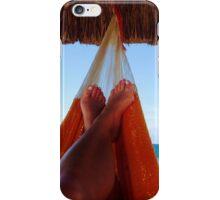 Hammock in paradise iPhone Case/Skin