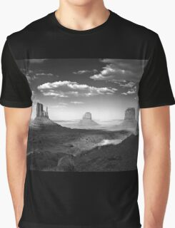 Monument Valley in Black & White  Graphic T-Shirt