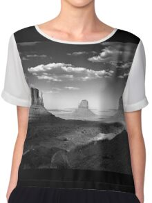 Monument Valley in Black & White  Chiffon Top