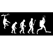 Funny Diving Evolution Photographic Print