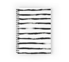 Thin Brush Stroke Stripe Spiral Notebook