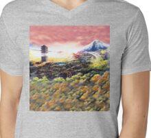 Bell Tower Mens V-Neck T-Shirt