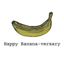 Happy Anniversary - Banana Card by tosojourn