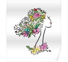 Floral spring woman Poster