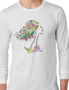 Floral spring woman Long Sleeve T-Shirt