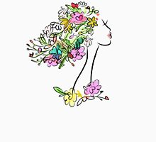 Floral spring woman Women's Fitted Scoop T-Shirt