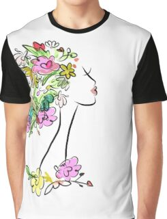 Floral spring woman Graphic T-Shirt