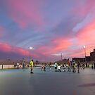 Roller skate at sunset by Jacker