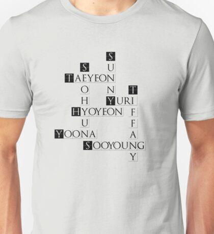 SNSD Crossword Unisex T-Shirt