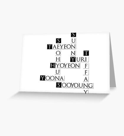 SNSD Crossword Greeting Card