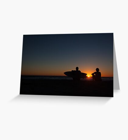 after surf sunset tranquil Greeting Card