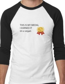 im a vegan Men's Baseball ¾ T-Shirt