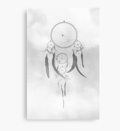 Monochrome Dreamcatcher Canvas Print