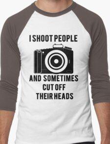 I Shoot People Funny Photographer Photography Men's Baseball ¾ T-Shirt