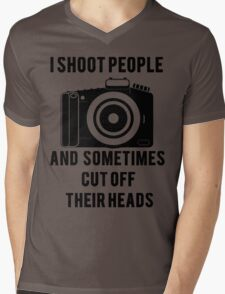 I Shoot People Funny Photographer Photography Mens V-Neck T-Shirt