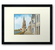 Tour de la Lanterne, La Rochelle, France Framed Print