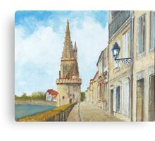 Tour de la Lanterne, La Rochelle, France Canvas Print