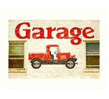 Old Garage Art Print