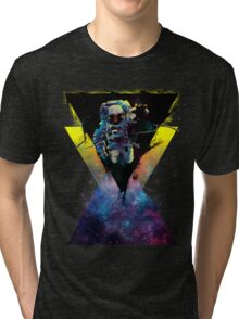 BLACK HOLE TRIANGLE IN SPACE Tri-blend T-Shirt