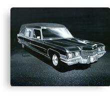 1971 Cadillac Hearse Canvas Print