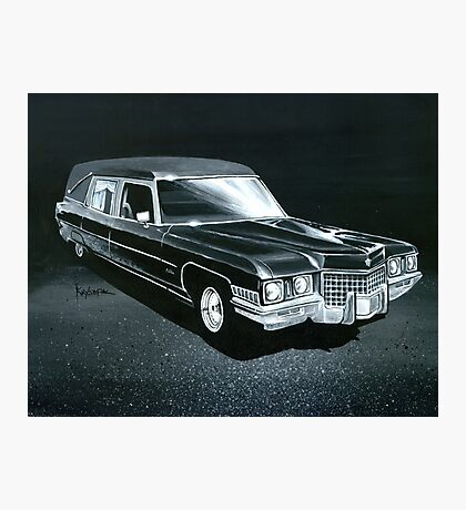 1971 Cadillac Hearse Photographic Print