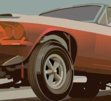 Vintage Drag Mustang Sticker