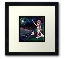 Stargazing In Aincrad Framed Print