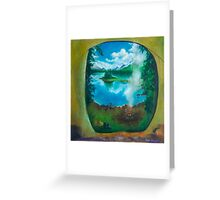 Camping oil painting Greeting Card