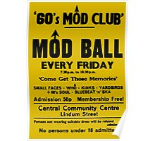 60's Mod Club Poster