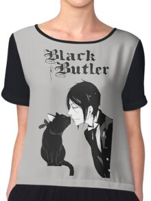black butler Chiffon Top