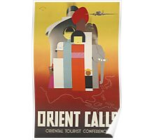 Orient Calls Vintage Travel Poster Poster